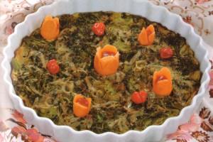 Gratin de brocoli et aux oeufs