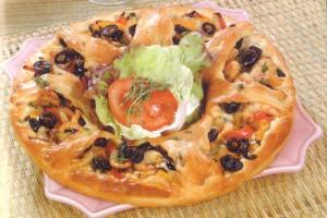 Pizza nouvelle forme
