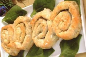 Mhancha aux épinards et fromage blanc