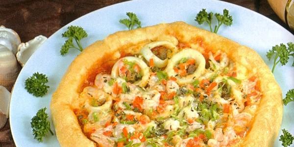 pizza aux fruits de mer pizzas plats du maroc. Black Bedroom Furniture Sets. Home Design Ideas