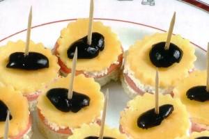 Canapés aux deux fromages