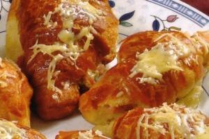 Croissants aux légumes confits
