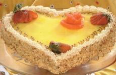 Cake en forme de coeur