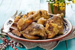 Tadjine de poulet au beignets de choux fleurs