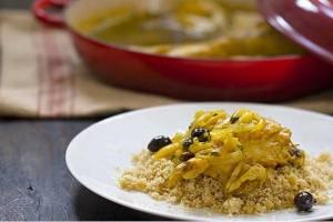 Poulet aux olives façon tajine